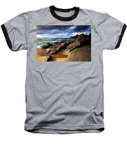 Between Rocks And Water Baseball T-Shirt