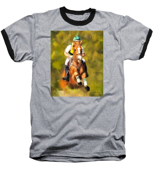 Baseball T-Shirt featuring the photograph Between The Flags by Joan Davis