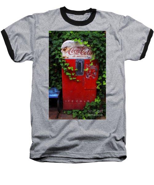 Austin Texas - Coca Cola Vending Machine - Luther Fine Art Baseball T-Shirt by Luther Fine Art