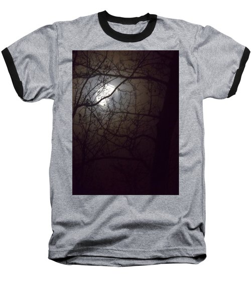 Baseball T-Shirt featuring the photograph Beware The Rougarou Moon by John Glass