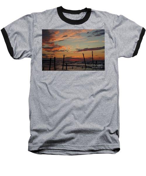 Baseball T-Shirt featuring the photograph Beyond The Border by Barbara McMahon