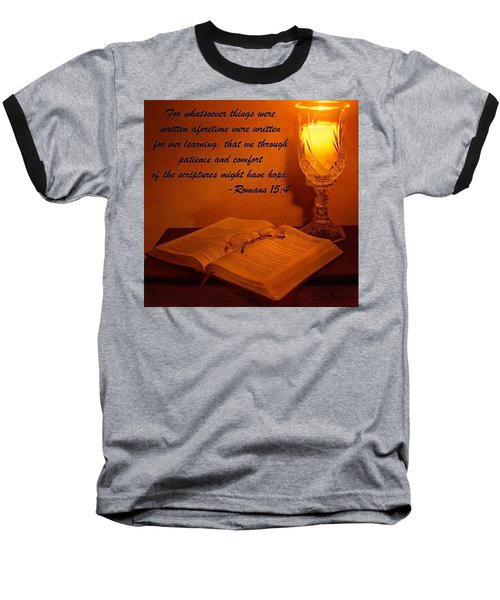 Bible By Candlelight Baseball T-Shirt