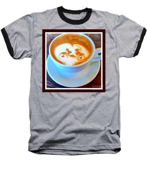 Bicycle Built For Two Latte Baseball T-Shirt