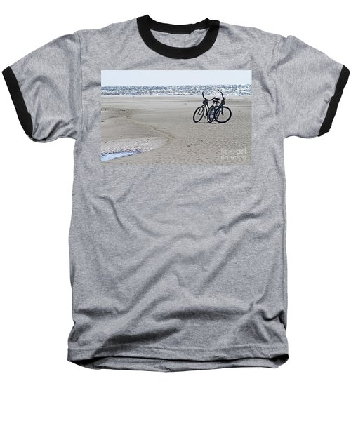 Bicycles On The Beach Baseball T-Shirt by Kevin McCarthy