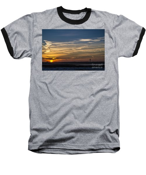 Biddeford Pool Maine Sunset Baseball T-Shirt