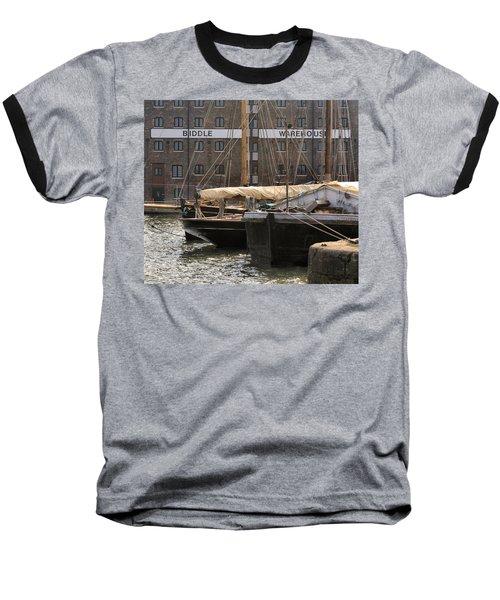 Biddle Warehouse Baseball T-Shirt by Ron Harpham