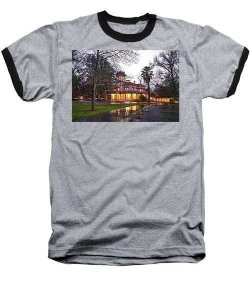 Bidwell Mansion In The Rain  Baseball T-Shirt