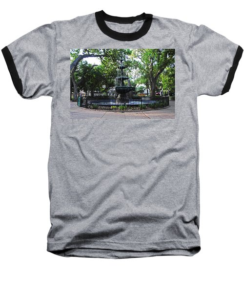 Bienville Fountain Mobile Alabama Baseball T-Shirt by Michael Thomas