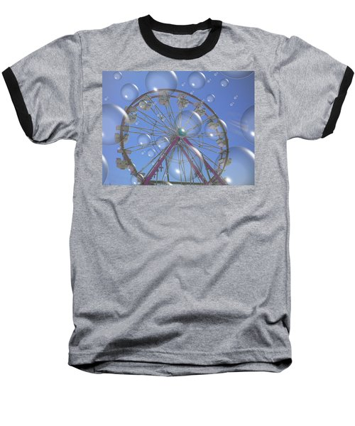 Big B Bubble Ferris Wheel Baseball T-Shirt