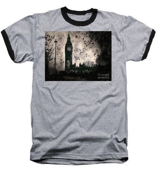 Big Ben Black And White Baseball T-Shirt