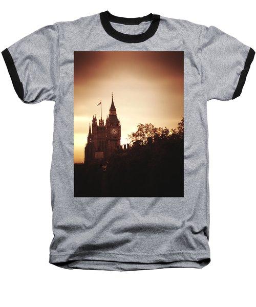 Big Ben In Sepia Baseball T-Shirt