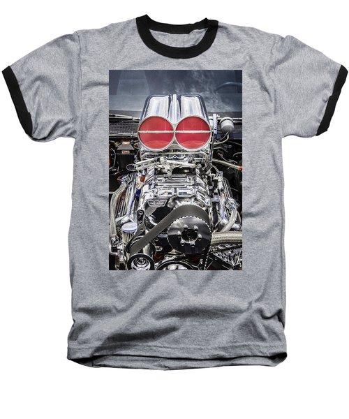 Big Big Block V8 Motor Baseball T-Shirt