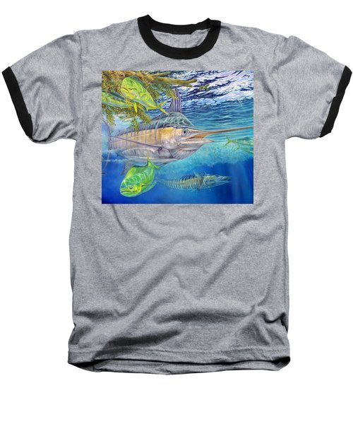 Big Blue Hunting In The Weeds Baseball T-Shirt