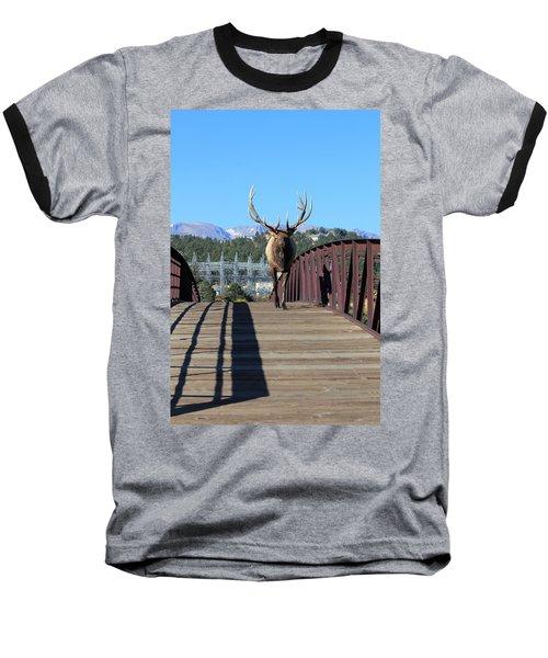 Big Bull On The Bridge Baseball T-Shirt