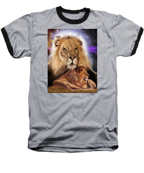 Third In The Big Cat Series - Lion Baseball T-Shirt by Thomas J Herring
