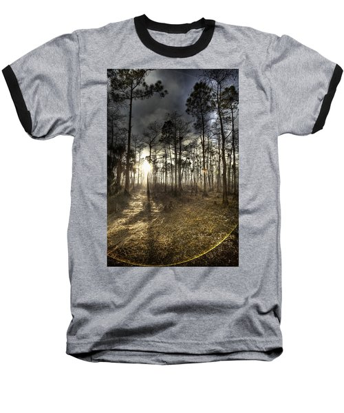Baseball T-Shirt featuring the photograph Big Cypress Fire At Sunset by Bradley R Youngberg