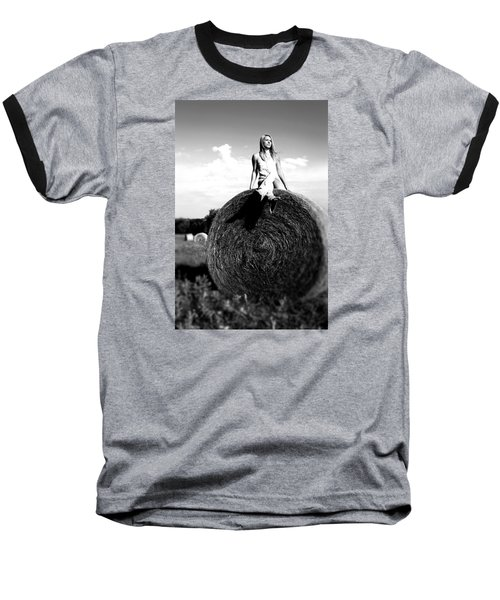 Baseball T-Shirt featuring the photograph Big Dreams Bw by Elizabeth Sullivan