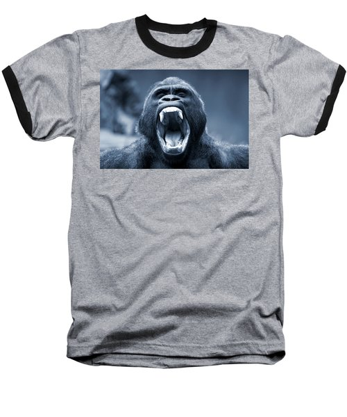 Big Gorilla Yawn Baseball T-Shirt