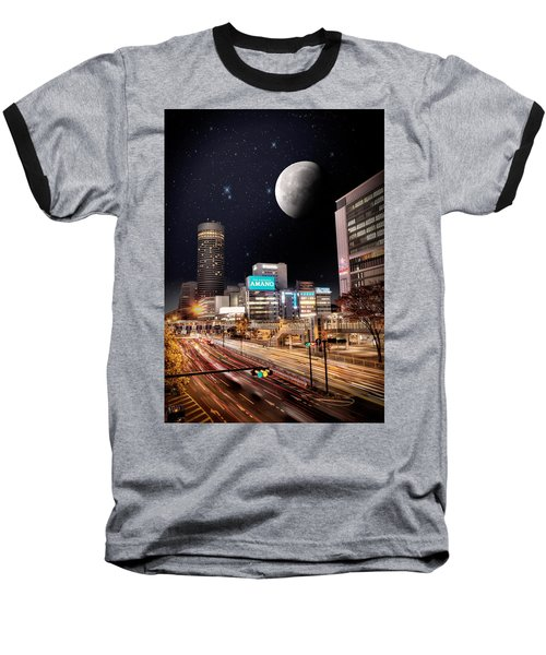 Big Moon Yokohama Baseball T-Shirt by John Swartz