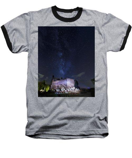 Big Muskie Bucket Milky Way And A Shooting Star Baseball T-Shirt