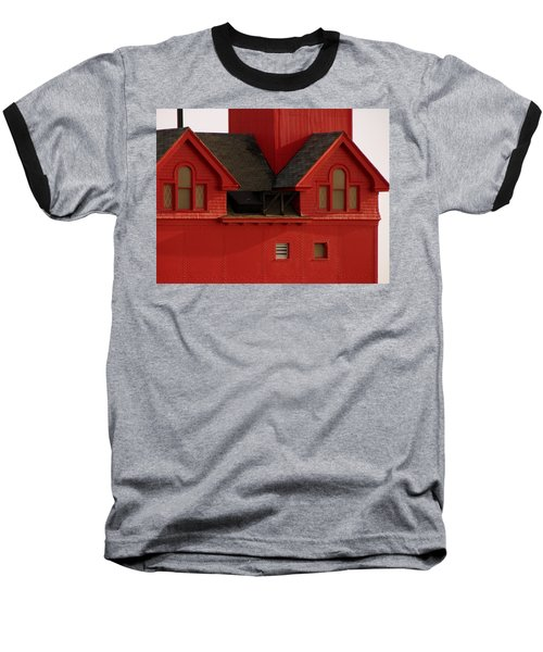 Big Red Holland Harbor Light Michigan Baseball T-Shirt
