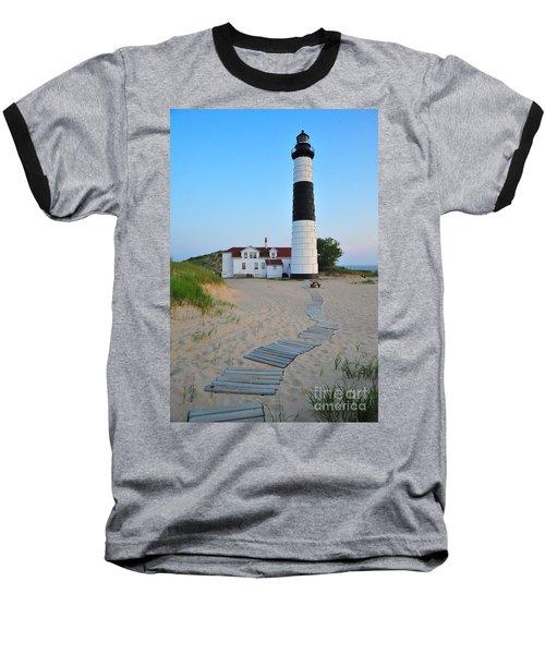 Big Sable Point Great Lakes Lighthouse Baseball T-Shirt