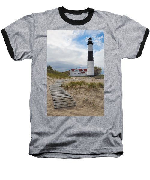 Big Sable Point Lighthouse Baseball T-Shirt