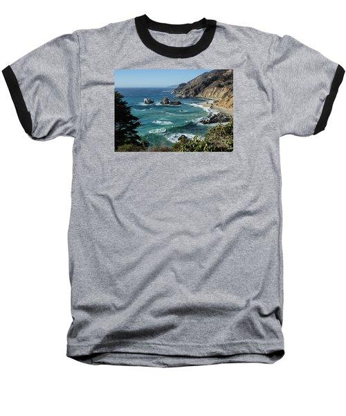 Big Sur Coast From Julia Pfeiffer Burns Baseball T-Shirt by Suzanne Luft