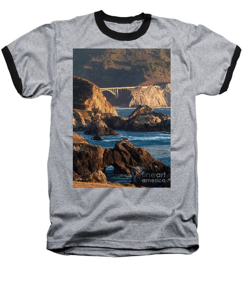 Big Sur Coastal Serenity Baseball T-Shirt by Mike Reid