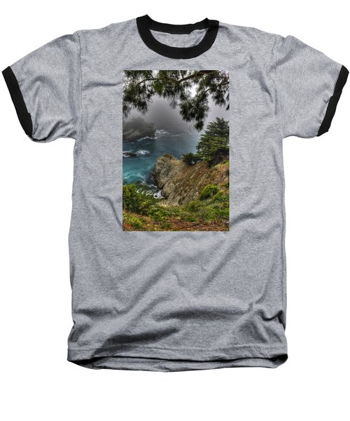 Big Sur Julia Pfeiffer State Park-1 Central California Coast Spring Early Afternoon Baseball T-Shirt by Michael Mazaika