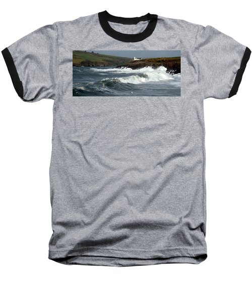 Baseball T-Shirt featuring the photograph Big Swell In Dingle Bay by Barbara Walsh