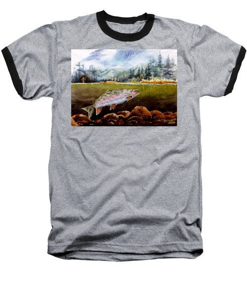 Big Thompson Trout Baseball T-Shirt by Craig T Burgwardt