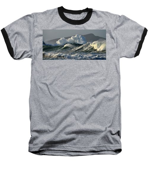 Big Waves At Clogher Beach Baseball T-Shirt