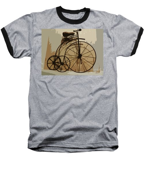 Baseball T-Shirt featuring the photograph Big Wheel Trike by Ecinja Art Works