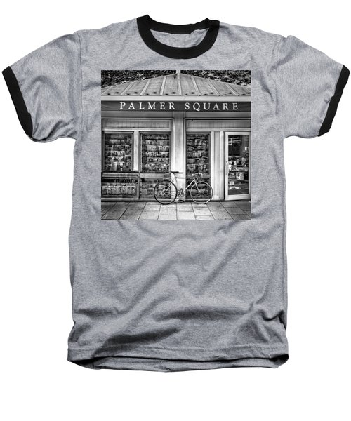 Bike At Palmer Square Book Store In Princeton Baseball T-Shirt by Ben and Raisa Gertsberg