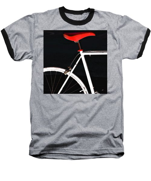 Bike In Black White And Red No 1 Baseball T-Shirt