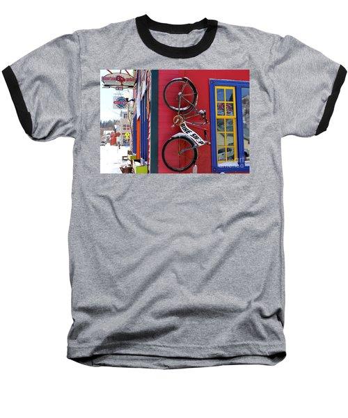 Baseball T-Shirt featuring the photograph Bike Shop by Fiona Kennard