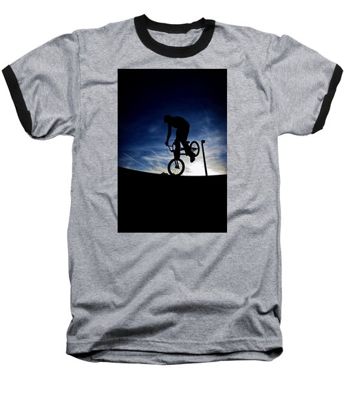 Bike Silhouette Baseball T-Shirt