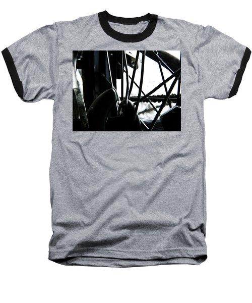 Bike Wheel Baseball T-Shirt by Joel Loftus