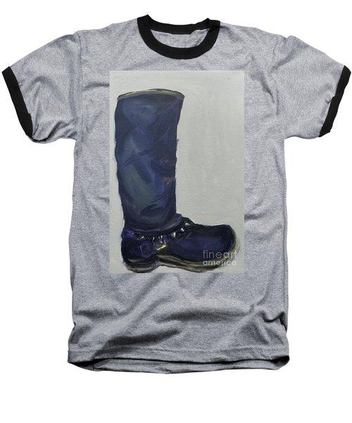 Biker Boot Baseball T-Shirt by Marisela Mungia