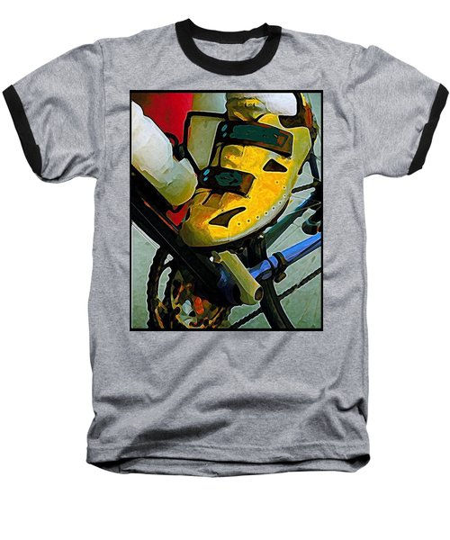 Biker Boy Foot Baseball T-Shirt