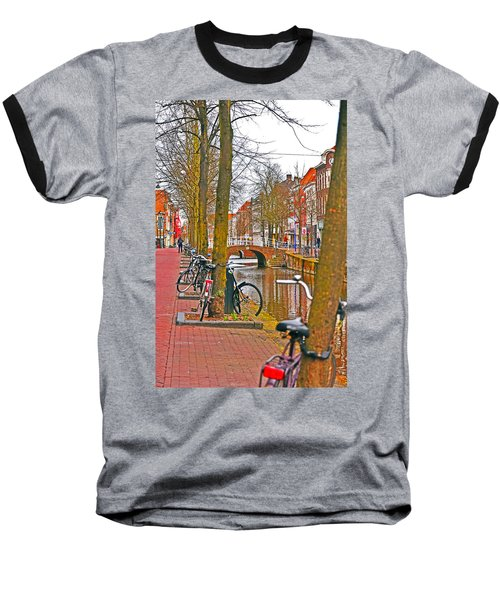 Bikes And Canals Baseball T-Shirt