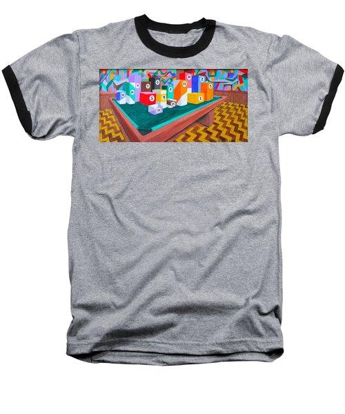 Billiard Table Baseball T-Shirt by Lorna Maza