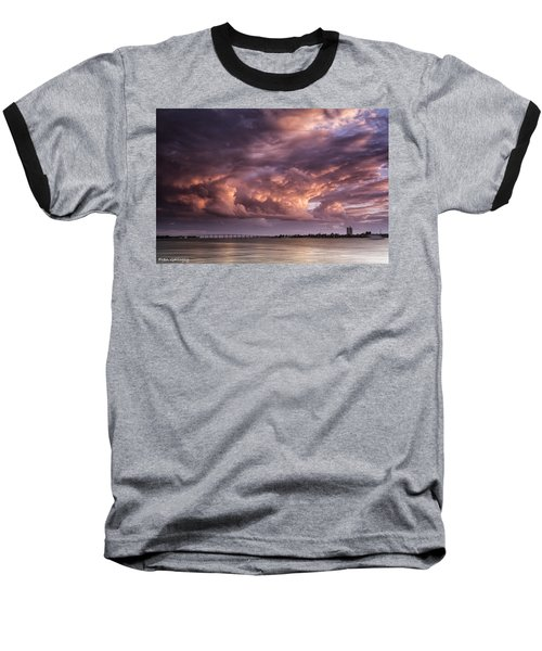 Billowing Clouds Baseball T-Shirt