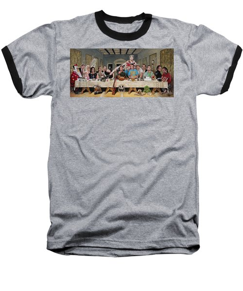 Bills Last Supper Baseball T-Shirt by Tom Carlton