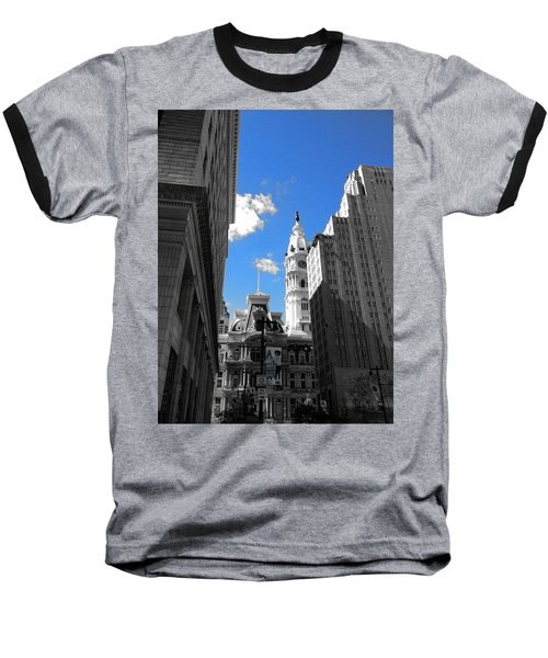 Baseball T-Shirt featuring the photograph Billy Penn Blue by Photographic Arts And Design Studio
