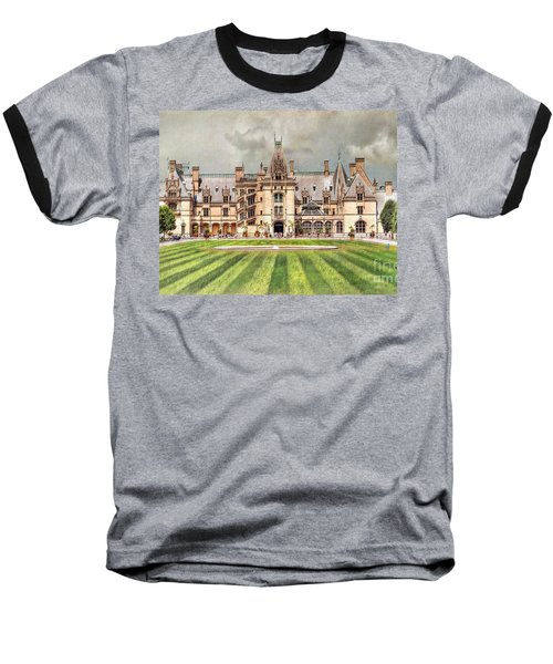 Biltmore House Baseball T-Shirt by Savannah Gibbs
