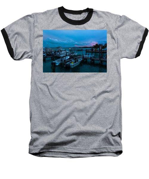Bimini Big Game Club Docks After Sundown Baseball T-Shirt