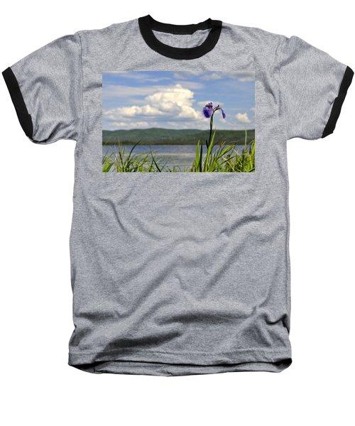 Baseball T-Shirt featuring the photograph Birch Lake Iris by Cathy Mahnke