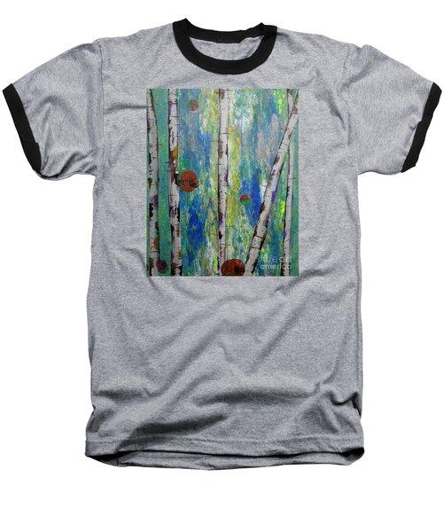 Birch - Lt. Green 4 Baseball T-Shirt by Jacqueline Athmann